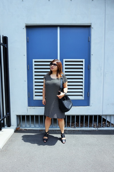 Cotton On T-shirt Dress, Dion Lee for Target Bucket Bag (1)