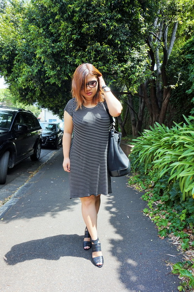 Cotton On T-shirt Dress, Dion Lee for Target Bucket Bag (3)