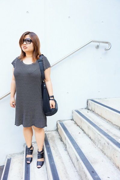 Cotton On T-shirt Dress, Dion Lee for Target Bucket Bag (5)