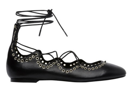seed heritage scarlett lace up ballet flats