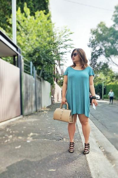 cotton on t-shirt dress and sambag leopard print pony heels (2)