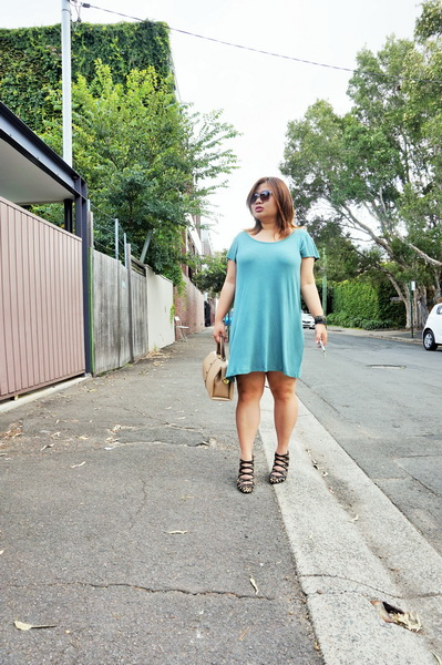 cotton on t-shirt dress and sambag leopard print pony heels (4)