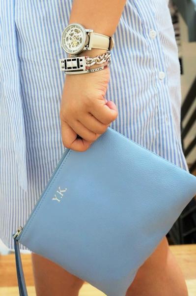 tellmeyblog - mon purse + fossil watch + bezels & bytes + mantraband