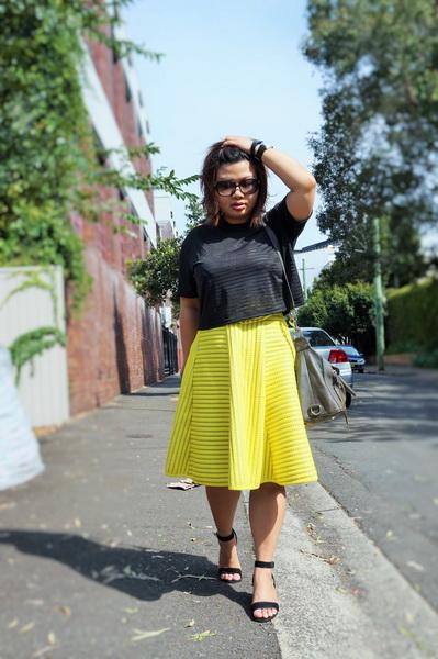 tellmeyblog - isla top + h&m stripe lace midi skirt + atmos&here sandals + world recycle week (5)