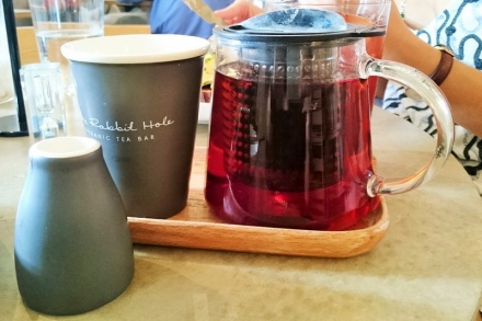 tellmeyblog - the rabbit hole organic tea bar - grey rabbit