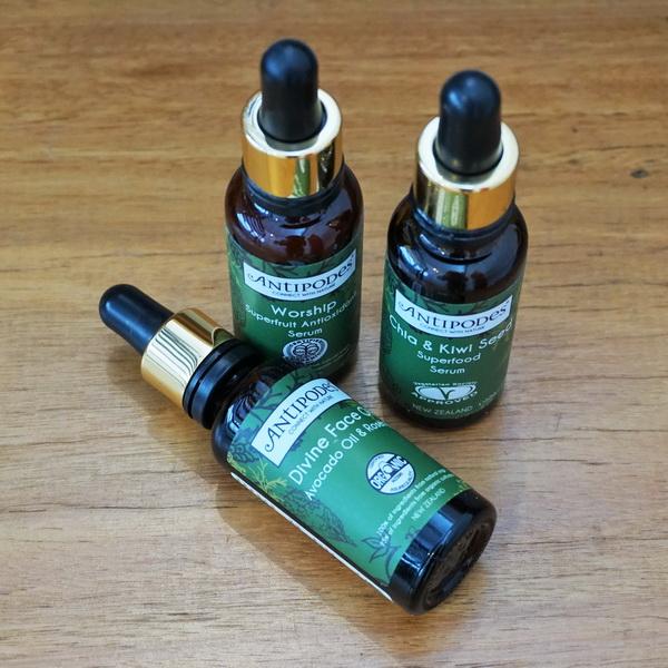 tellmeyblog - antipodes divine face oil + worship superfruit antioxidant serum + chia & kiwi seed superfood serum 3
