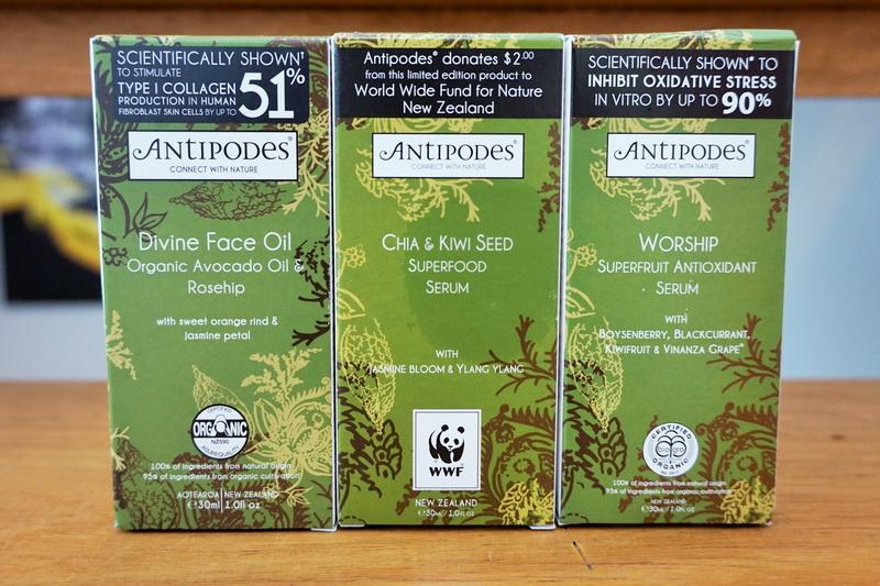 tellmeyblog - antipodes divine face oil + worship superfruit antioxidant serum + chia & kiwi seed superfood serum